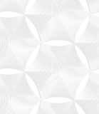 3D white striped puckered hexagons Royalty Free Stock Photos