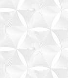 3D white striped puckered hexagons Royalty Free Stock Photos