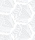 3D white striped sea shells Royalty Free Stock Image