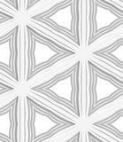 3D white striped triangles with gray Stock Image