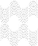 3D white striped waves Royalty Free Stock Photos