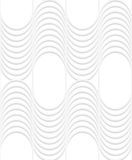 3D white striped waves with vertical grid Stock Images