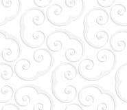 3D white swirly u shapes Royalty Free Stock Image