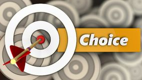 3d white taget with choice. 3d illustration of white taget with choice over multiple targets background Royalty Free Stock Images