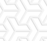 3D white three ray hexagonal stars Stock Images