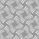 3D white twisted squares on gray Stock Photos