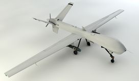 3D UAV drone Royalty Free Stock Photo