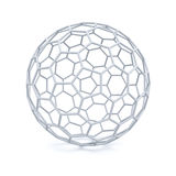 3d white wireframe over white background with shadow. 3D rendering Royalty Free Stock Photo