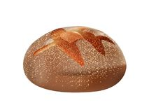 3d wholemeal wholemeal bread loaf isolated royalty free illustration