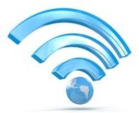 3D Wi-Fi信号 免版税库存图片
