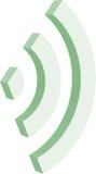 3d Wi-Fi标志 图库摄影