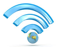 3D wi-fi signal Royalty Free Stock Photography