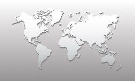3D 01 Światowa mapa Zdjęcie Royalty Free