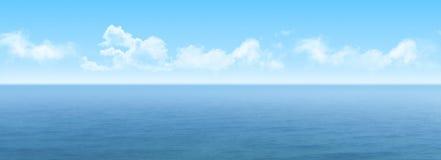 3D widescreen sea landscape. 3D render of a widescreen sea landscape Royalty Free Stock Images