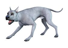3D Wiedergabe blauer Grat Dane Dog auf Weiß lizenzfreie abbildung
