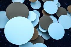 3d Wiedergabe, Kreisrahmen-Kartenschablone stock abbildung