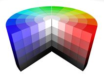 3d wiel HSV HSB van kleurenkleuren Stock Afbeelding
