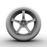 3d wiel op wit Stock Afbeeldingen