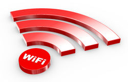 3d wifi symbol Stock Photos