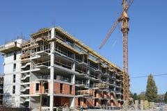 dźwig miejsce budowy budynków Obraz Royalty Free