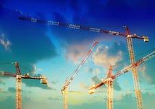 dźwig miejsce budowy budynków Zdjęcia Royalty Free