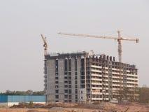 dźwig miejsce budowy budynków Obrazy Stock