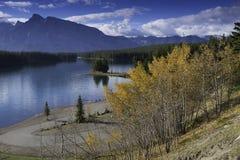 dźwigarki jezioro dwa Zdjęcie Royalty Free
