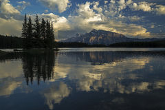 dźwigarki jezioro dwa Obrazy Royalty Free