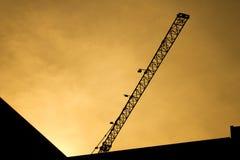 Dźwigowa budowa w sylwetka stylu Zdjęcia Royalty Free