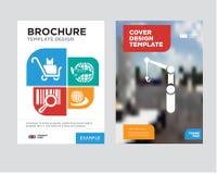 dźwigowy broszurki ulotki projekta szablon Zdjęcie Royalty Free
