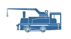 Dźwigowy zbiornik lokomotywy parowozowa kontrpara royalty ilustracja