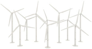 3D wind turbine for clean energy Stock Image