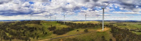 D wind turbine farm hume pan Stock Image