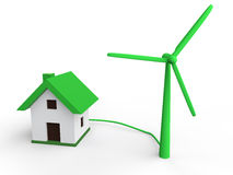 3d wind turbine green energy concept Royalty Free Stock Photo