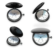 3D winding watches Icon. 3D Icon Design Series. Stock Image