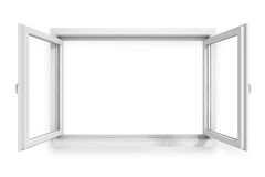 3d window frame Stock Photos