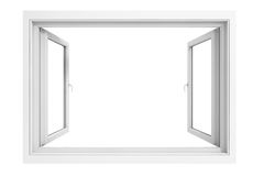 3d window frame vector illustration