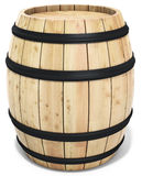 3d wine barrel. On the white background 3D illustration Royalty Free Stock Photography