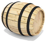 3d wine barrel. On the white background 3D illustration Royalty Free Stock Photo