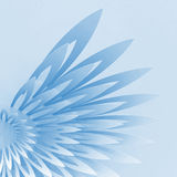 3d wing-shaped geometric structure Royalty Free Stock Photos