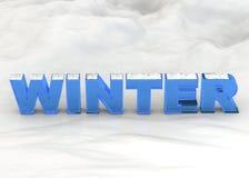 3D winter - Stock Fotografie