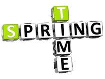 3D wiosny czasu Crossword ilustracja wektor