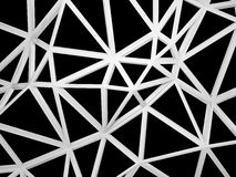 3d wired construction with chaotic shape isolated on black Royalty Free Stock Image
