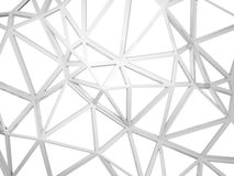 3d wired construction with chaotic shape isolated on white. Abstract 3d wired construction with chaotic triangles shape isolated on white background Stock Photos