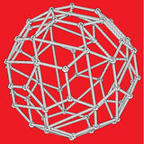 3d wireframe abstract net sphere Stock Image