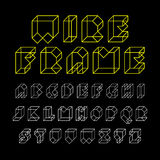 3d wireframe font Stock Photo