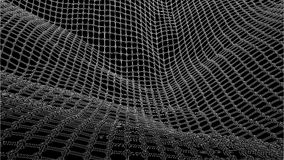 3d wireframe wave net surface Royalty Free Stock Image