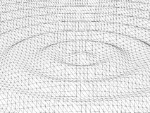 3d wireframe wave surface Royalty Free Stock Photos