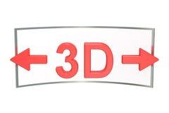 3D Wirtualnej wycieczki turysycznej pojęcie 3D rendering odizolowywający na bielu Zdjęcia Stock
