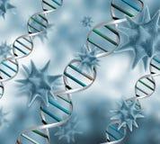3D wirusa tło Zdjęcie Stock